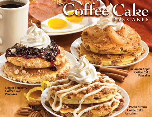 ihop coffee cake pancakes Carb Junkie Weekend