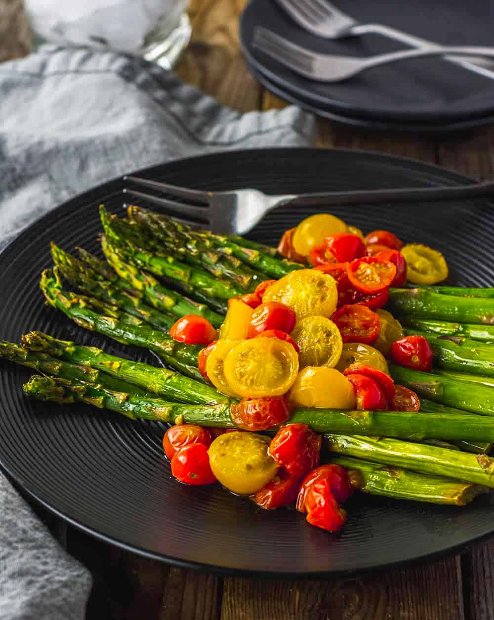 Oven Roasted Asparagus And Tomatoes Healthier Steps