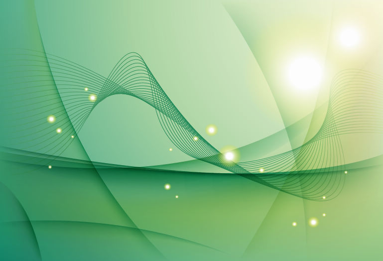 Abstract Green Waves Vector Background - Steve Shorr Insurance