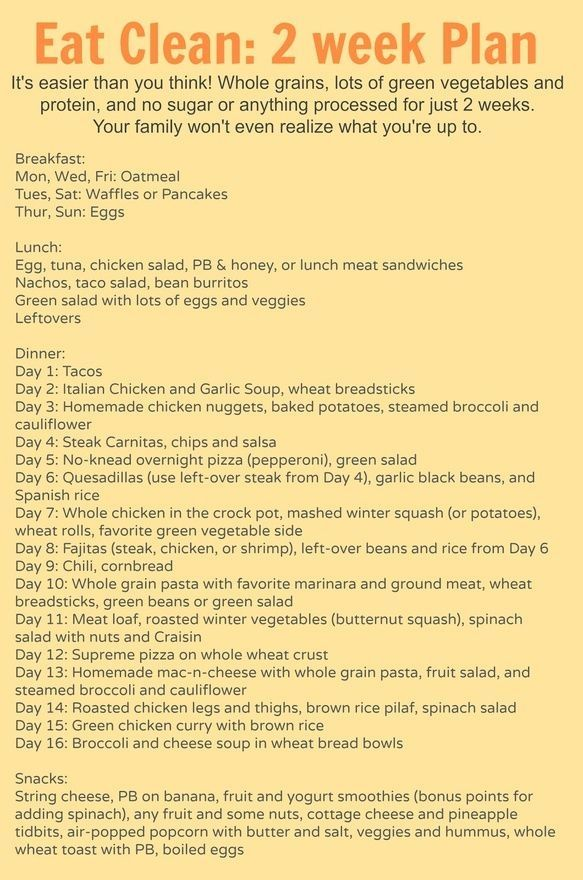 Diet Plan To Lose Weight  2 weeks worth of meal plans (breakfast - breakfast lunch and dinner meal plan for a week