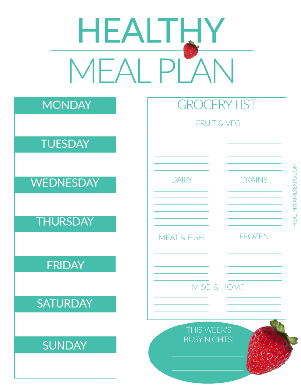 Meal Planning 101 ( tips to become a pro!) - Healthy Family Expo
