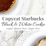 Copycat Starbucks Black & White Cookie | Healthy Helper @Healthy_Helper A healthy version of the classic Starbucks dessert! Half vanilla, half chocolate, all delicious. Gluten-free, vegan, and high protein from a secret plant-based power food!