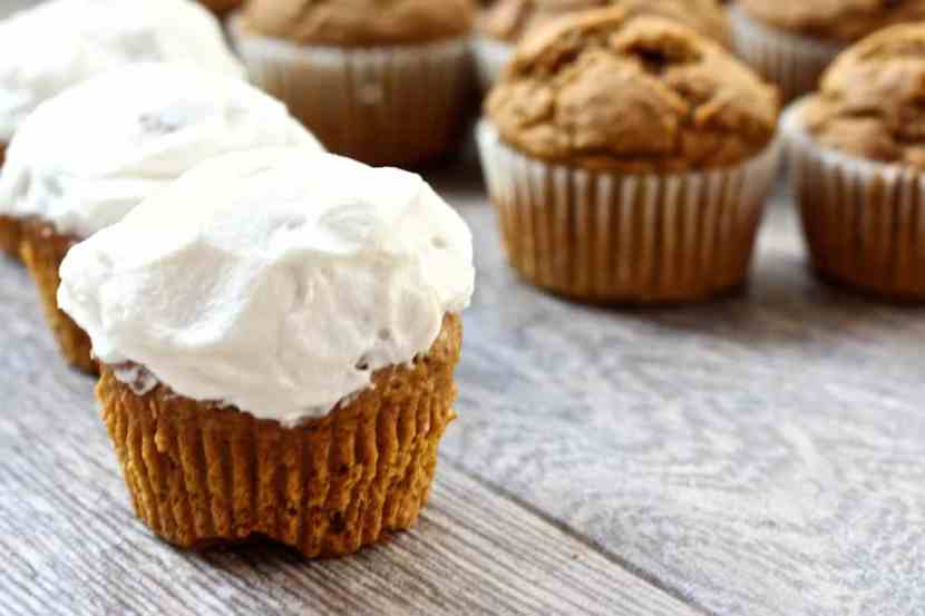 Vegan Gluten-Free Pumpkin Spice Cupcakes | Healthy Helper @Healthy_Helper