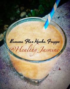 Banana Flax Mocha Frappe