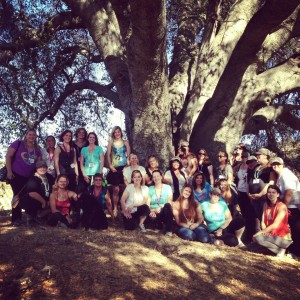 Group shot in front of one of the oldest Oak Trees in the world