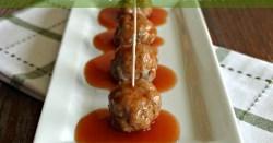 Garlic & Onion Pork Meatballs with Sweet & Sour Orange Sauce