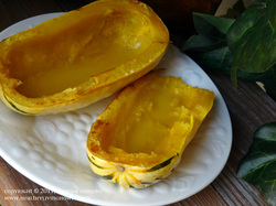 Delicata squash with Kerrygold butter
