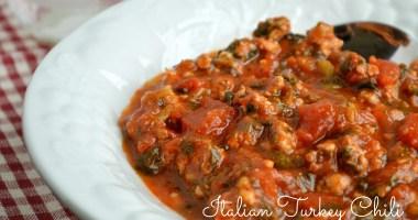Italian Turkey Chili