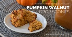 Pumpkin Walnut Drop Scone | healthylivinghowto.com