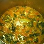 Red Lentil Kale Curry Veggie Soup