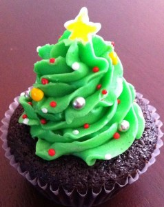 Healthy Christmas Tree Cupca