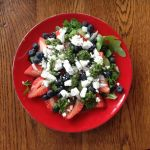 Berry, Feta Pesto Salad
