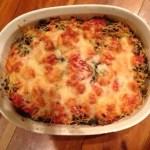 Kale, Tomato, Parmesan Bake