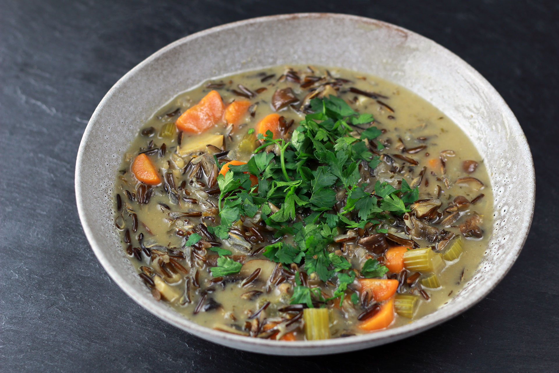 Hclf Rezepte Wildreis Pilz Suppe (hclf & Vegan) • Healthy Rockstar