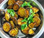 baked eggplant wedges