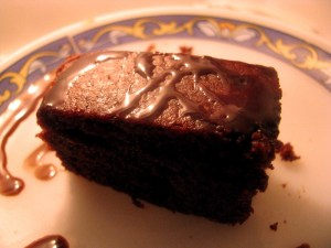 whole wheat eggless chocolate cake