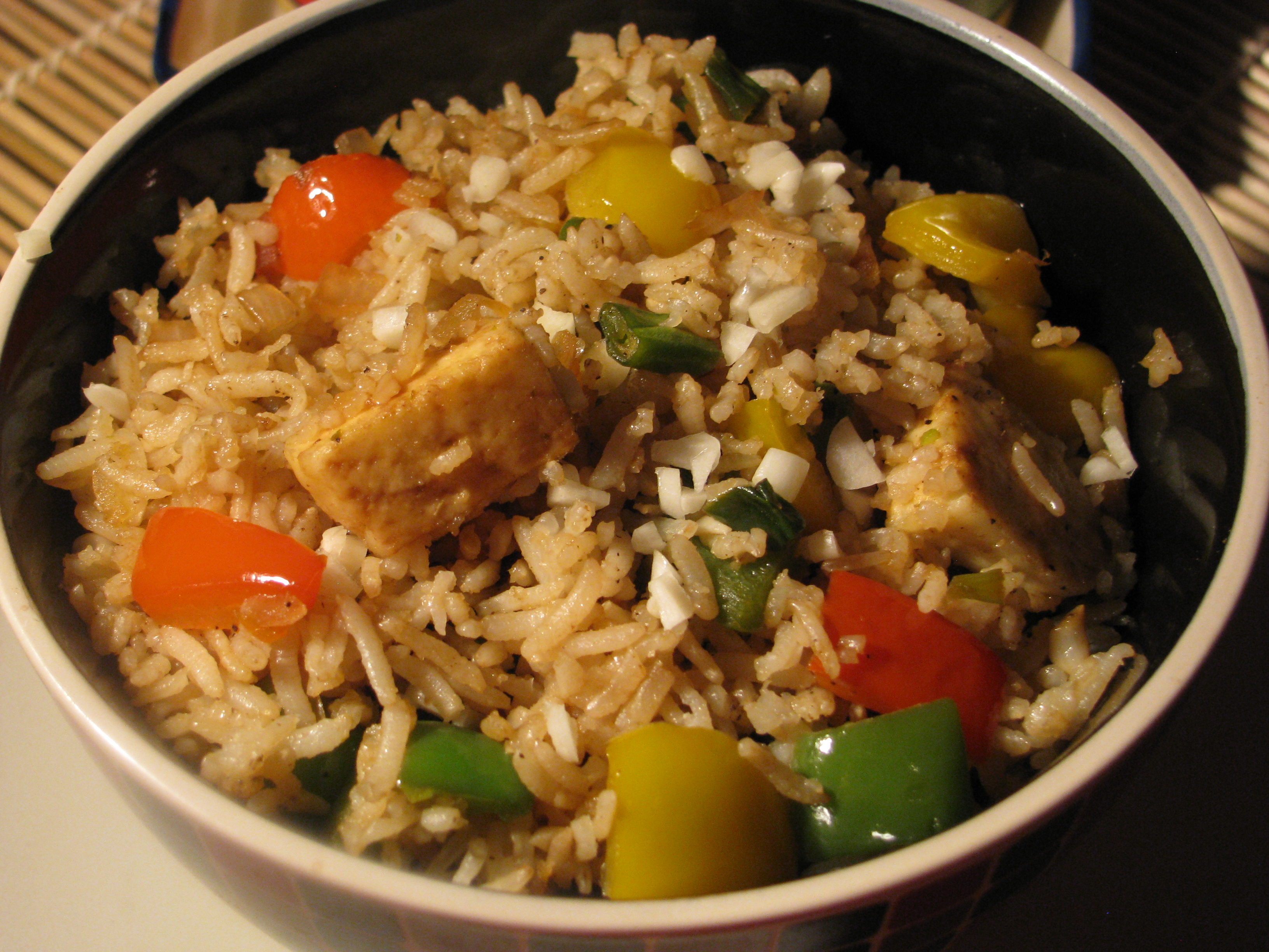 how to cook healthy fried rice