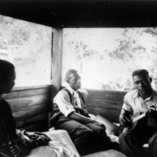 Zora Neale Hurston, Rochelle French, and guitarist Gabriel Brown, Eatonville, Florida 1935; Alan Lomax, photographer
