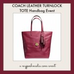 Enter to win the Coach Leather Turnlock Handbag Event