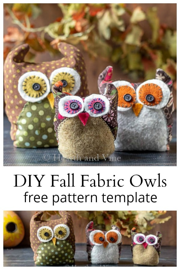 Fabric Owls Tutorial - Including a Free Pattern Template