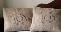 Holiday Burlap Pillow Covers For A Casual Rustic Feel