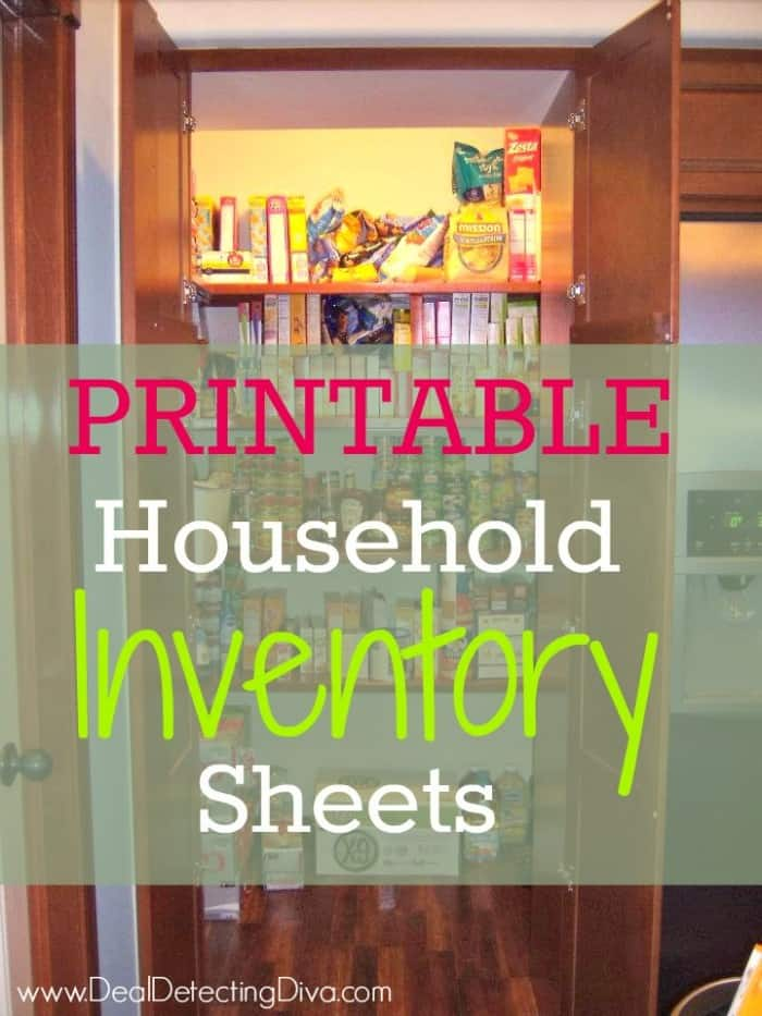 Printable Household Inventory Sheets - Heart Hook Home