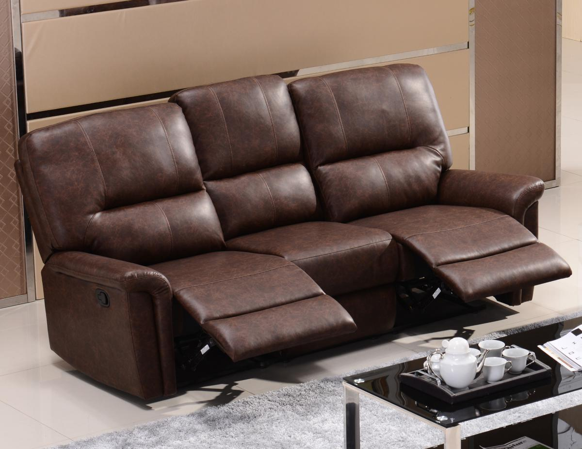 Uk Sofa Wholesale Ltd Viewing Manny Recliner Bonded Pu 3 Seater Sofas Sofa 3 Seater