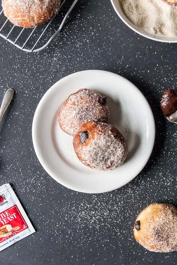 Vegan Nutella Filled Doughnuts | Heart of a Baker