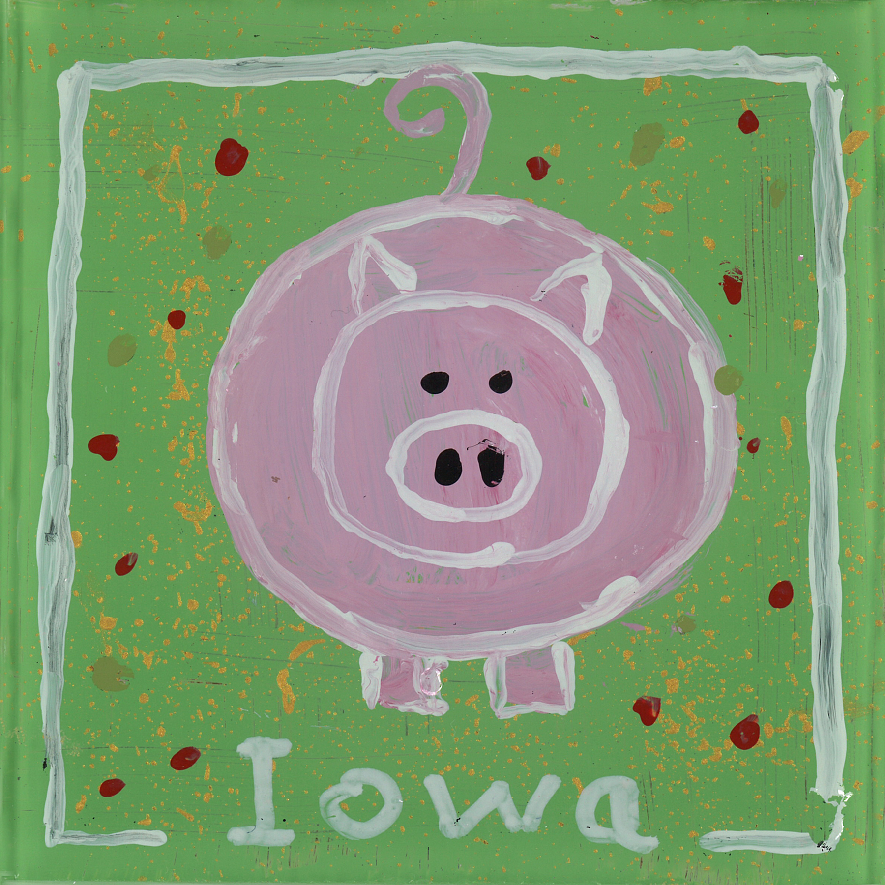 Pig Coasters Hand Painted Glass Pig Coaster Heart Of Iowa Market Place