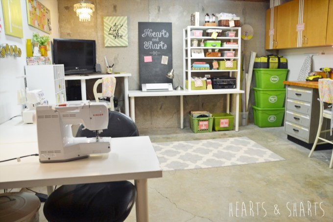 Craft Room Reveal | www.heartsandsharts.com