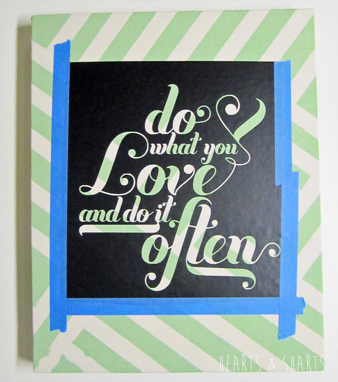 Easy Canvas Art Using the Silhouette and Free Printables | www.heartsandsharts.com
