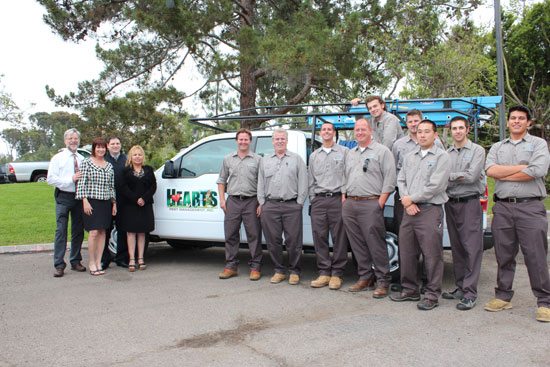 Hearts Pest Management with Los Angeles pest control team members