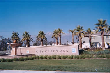 City of Fontana, beautiful new community, surrounded by mountains, open space, wilderness and commercial strips.