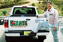 Gerry Weitz - owner of Hearts Pest Management - the one-stop-shop pest control service company!