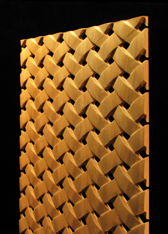 Range Hood Carved Wood Panels - Pattern #29 - Simple Weave
