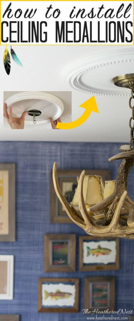 How to Install Ceiling Medallions The Heathered Nest - construction change order form