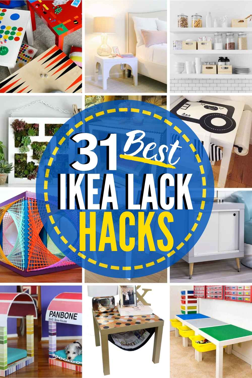 31 Inventive Ikea Lack Table Hacks And Lack Shelf Hacks For Your Home The Heathered Nest
