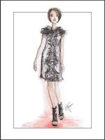 Fashion Illustration inspired by Jason Wu