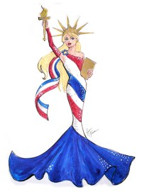 Lady Liberty FAO Schwarz exclusive Barbie Doll