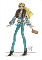 Gypsy Chic Doll Design by Heather Fonseca