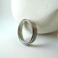 Forest Band Ring in Sterling Silver