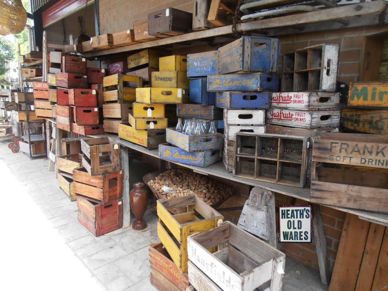 Timber Crates For Sale Heaths Old Wares Collectables Industrial Antiques