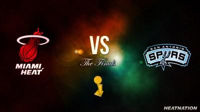 Miami Heat vs San Antonio Spurs NBA Finals Wallpaper