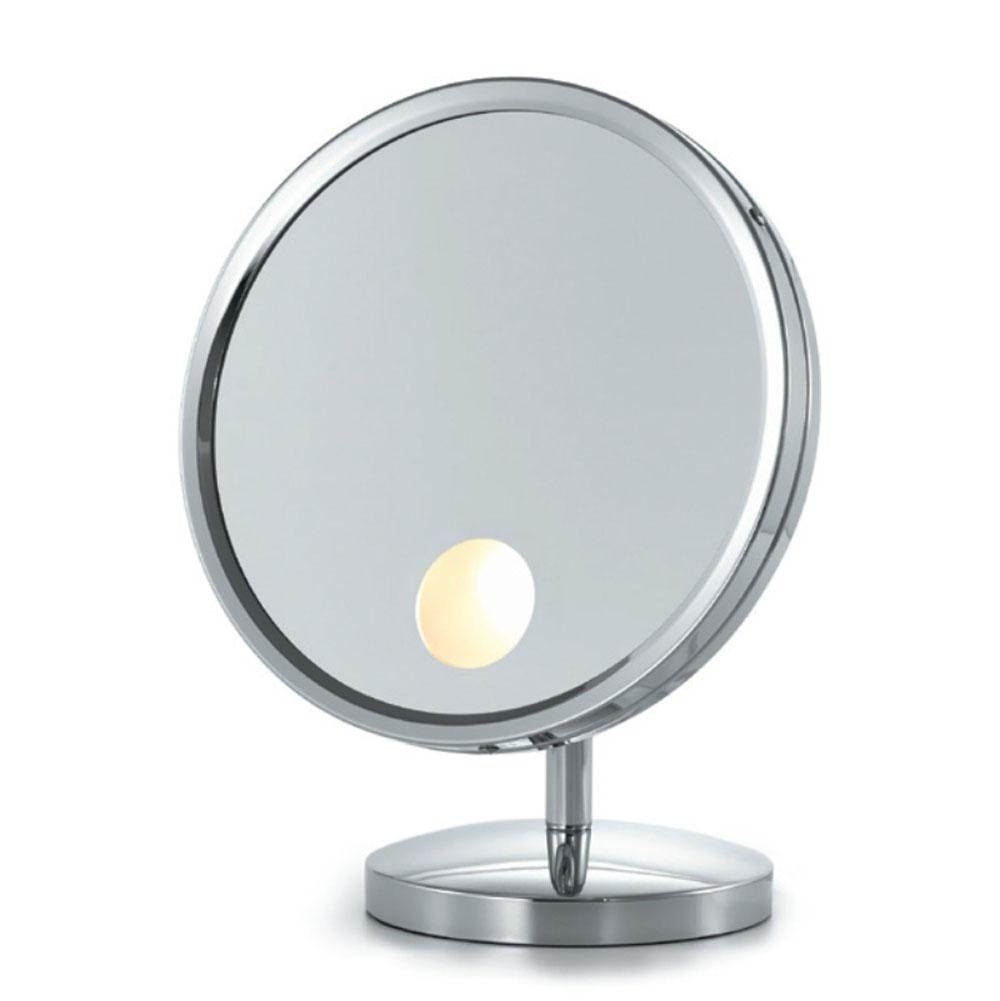 Decorative Brushed Nickel Mirror Electric Mirror Em10 Bn At Heatwave Supply Premiere Plumbing