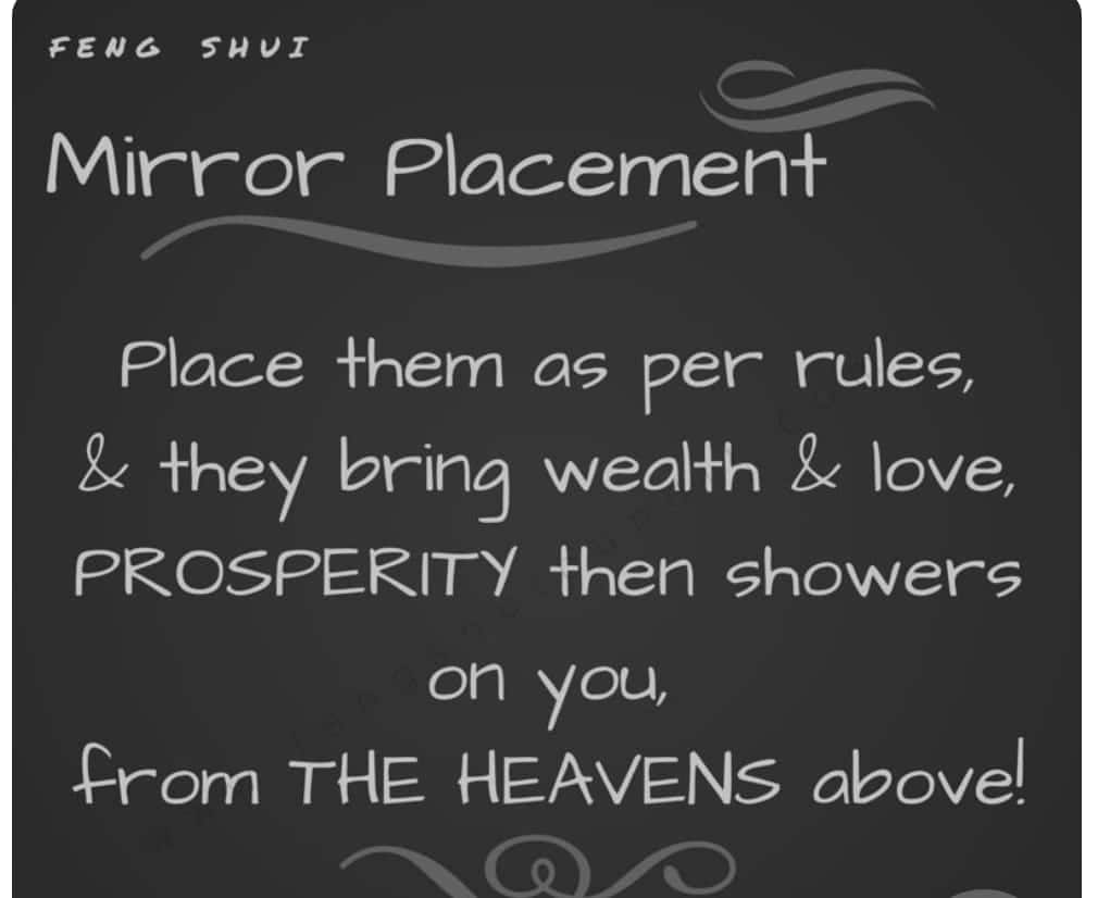 Bad Feng Shui Mirror Placement Mirror Mirror On The Wall Heaven Earth Feng Shui