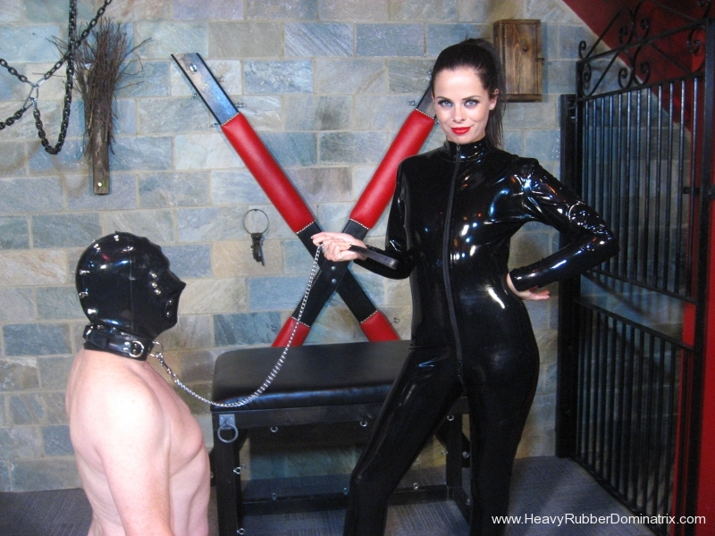Miss Tiffany Naylor in latex catsuit