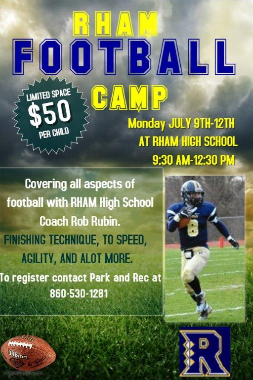 Copy of Football training camp flyer template \u2013 Made with