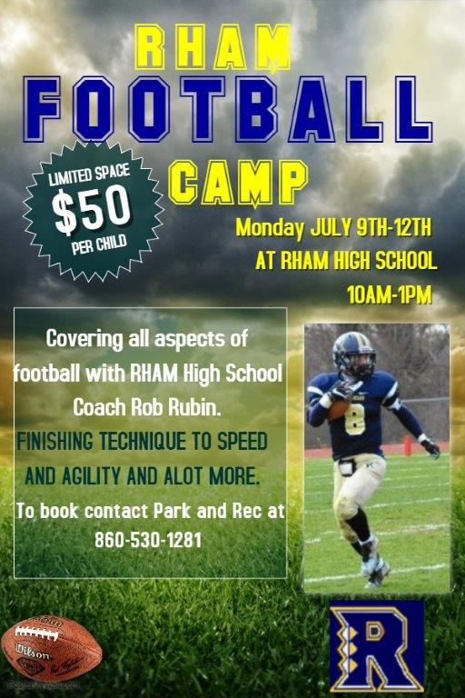Copy of Football training camp flyer template (1) Town of Hebron