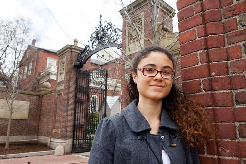 Camille N'Diaye Muller at Harvard University. (Photo: Melanie Stetson Freeman/The Christian Science Monitor) No reproduction.
