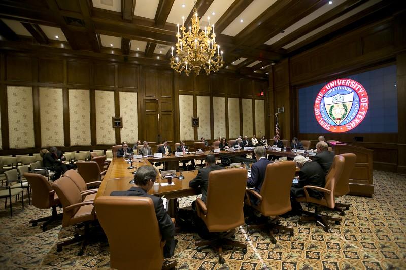 The University of Texas Board of Regents meets on Feb. 12, 2015.
